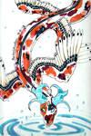 Koi Dragon by darkraifangirl