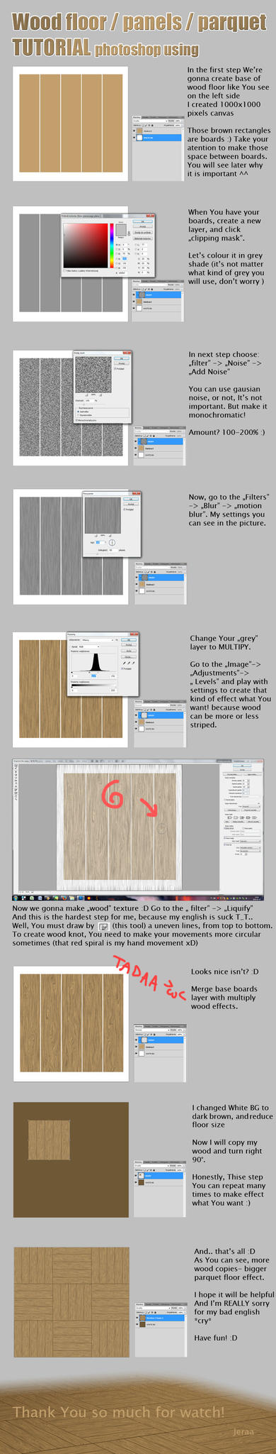 Wood Floor Tutorial by Yeraa