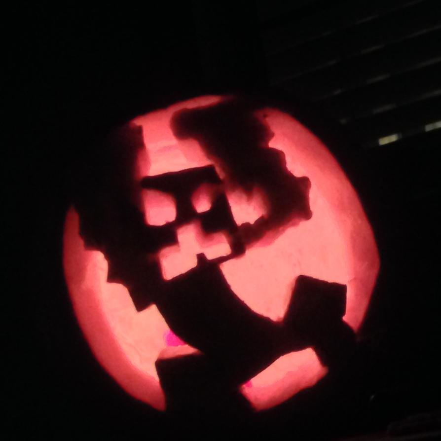 Minecraft creeper pumpkin by aubrey on deviantart