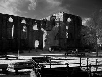 Cemetery and Abbey Ruin by GaryTaffinder