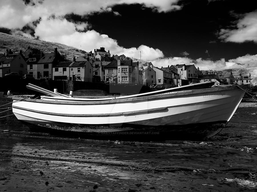 Boat at Staithes in Infrared by GaryTaffinder