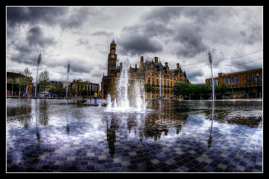 Bradford Mirror Pool And Fountains. By GaryTaffinder On