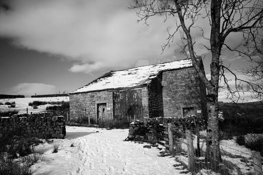 Yorkshire Dales Barn at Grimwith reservoir.