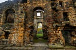 In the ruins of Kirkstall Abbey - Leeds - UK