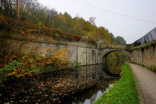 Leeds Liverpool Canal at Armley Mills - Leeds - UK
