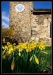 All Saints Church at Ledsham. The oldest building