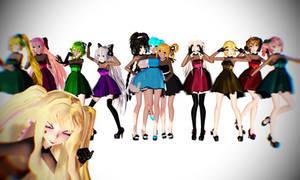 MMD Dress Models   DOWNLOAD