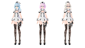 | MMD | Nurse Models DL 01 [UPDATE] by HikariWakamiya