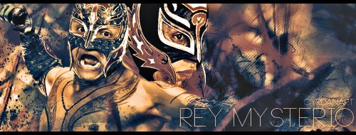 Rey Mysterio Banner by Cyrdanwwe