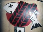 dead fish stencil by INovumI