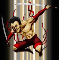red swordsman by INovumI