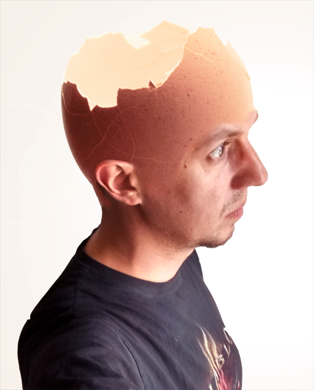 Eggshellhead by INovumI