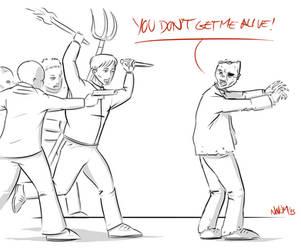 Zombie hunt by INovumI