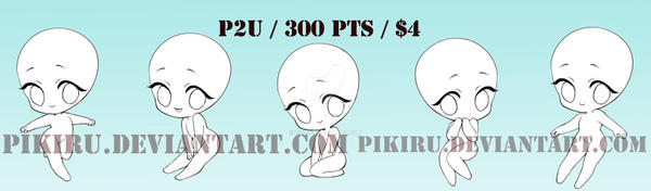 P2U CHIBI SET - 300 pts! by Pikiru