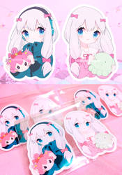 Sagiri Stickers by Pikiru