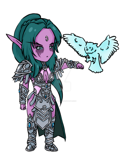 Tyrande - HotS by pukedrawings