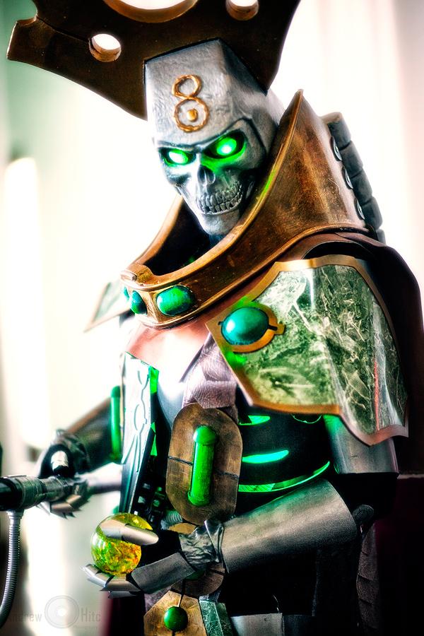 Necron Lord - Warhammer 40k - Voroneg 2012 by andrewhitc