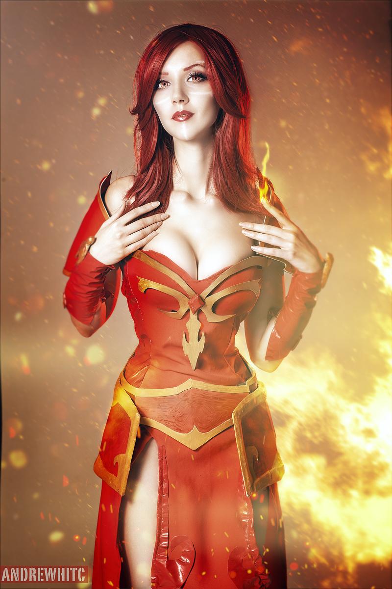 dota 2 lina cosplay by andrewhitc on deviantart