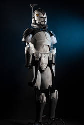 Clone Commander Wolfee Armor full 3d printed suit by andrewhitc