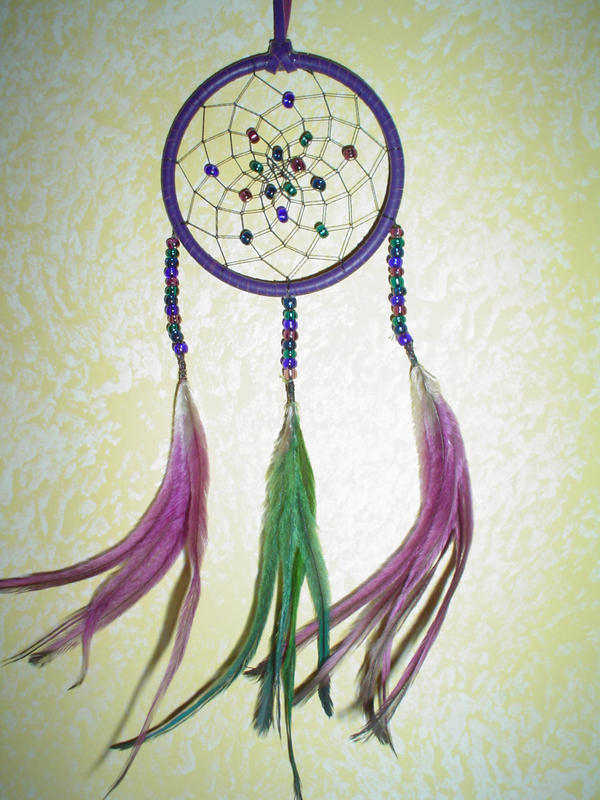 Simple dreamcatcher by tiranopetrie on deviantart for Easy to make dream catchers
