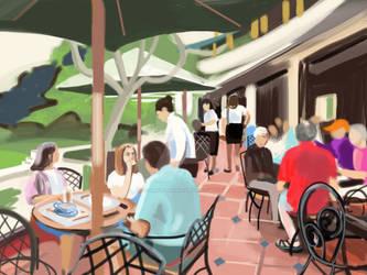 Cafe, Hanoi by PlumOvelgonne
