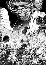 Battle scene - comic page sample