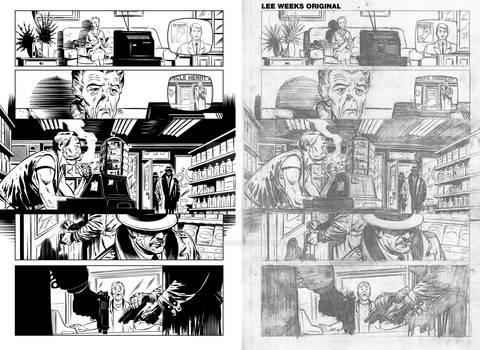 Digital ink for comics (sample)