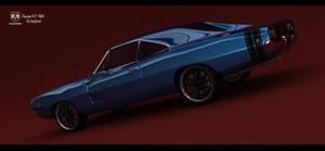 Chager R/T 1968 Studio render 1