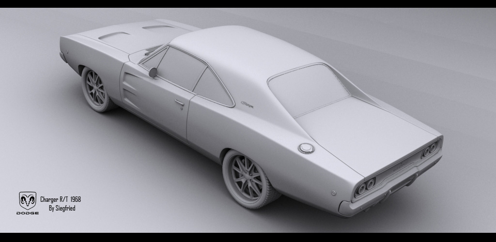 Charger 68 Clay - 4 by Siegfried-Ukr on DeviantArt