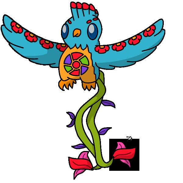 Fakemon #3: Quetzplendant by Draggaco