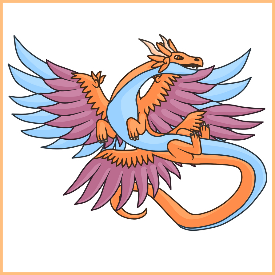 Air Dragon - Simple Concept Art by Draggaco