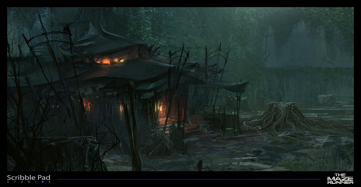 Hut Design - The Maze Runner by ScribblePadStudios