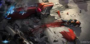 TitansGrave - Concept Design - The Crash by ScribblePadStudios