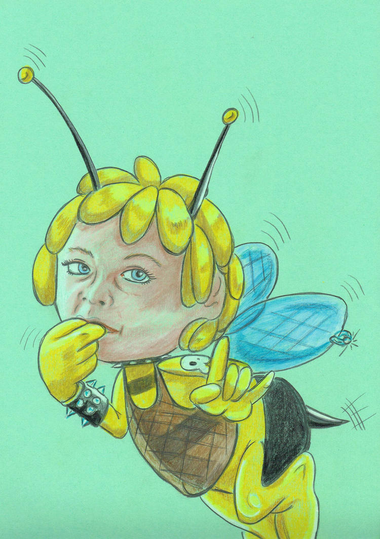 Commission Work Bee Maya by DarkWing-Zero