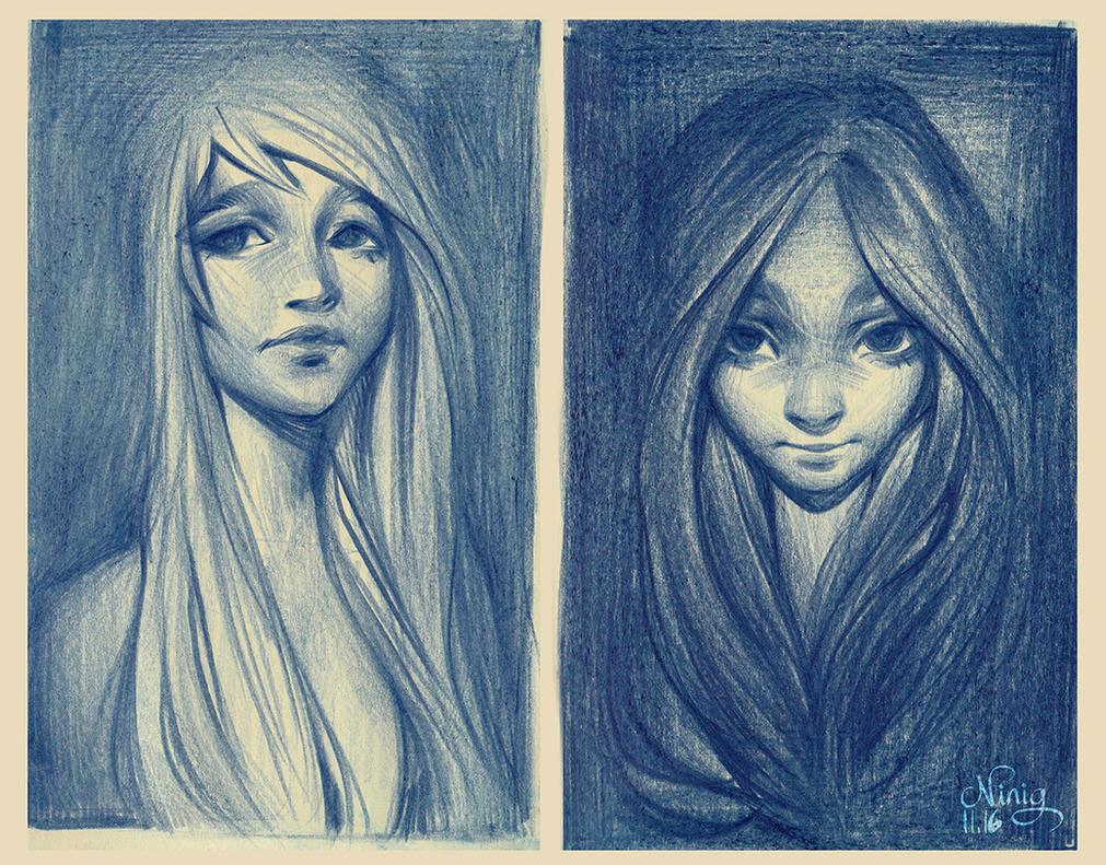 portraits by Ni-nig