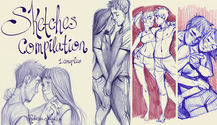 sketches compilation 1: couples (pdf sketchbook) by Ni-nig