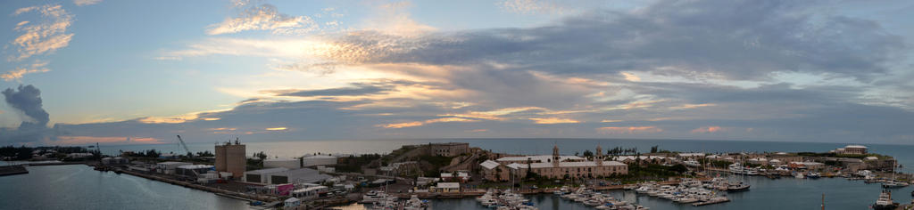2017 Bermuda Royal Naval Dockyard Panorama by pencildragon