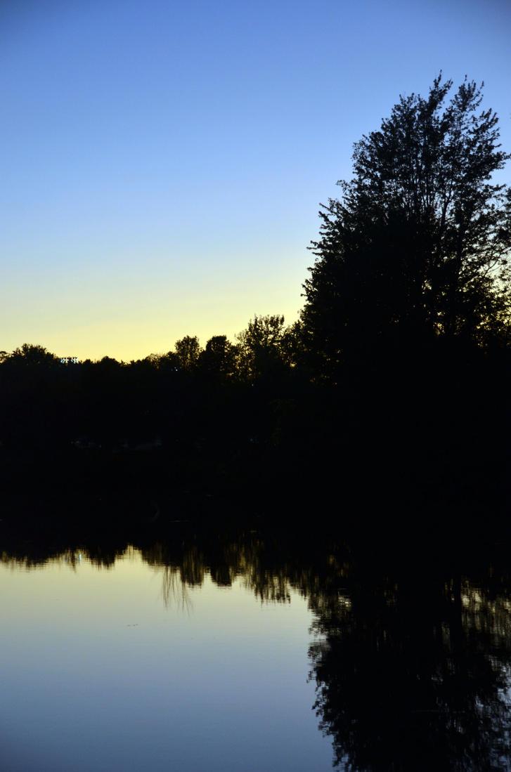 Potsdam - Raquette River Silhouette #4 by pencildragon