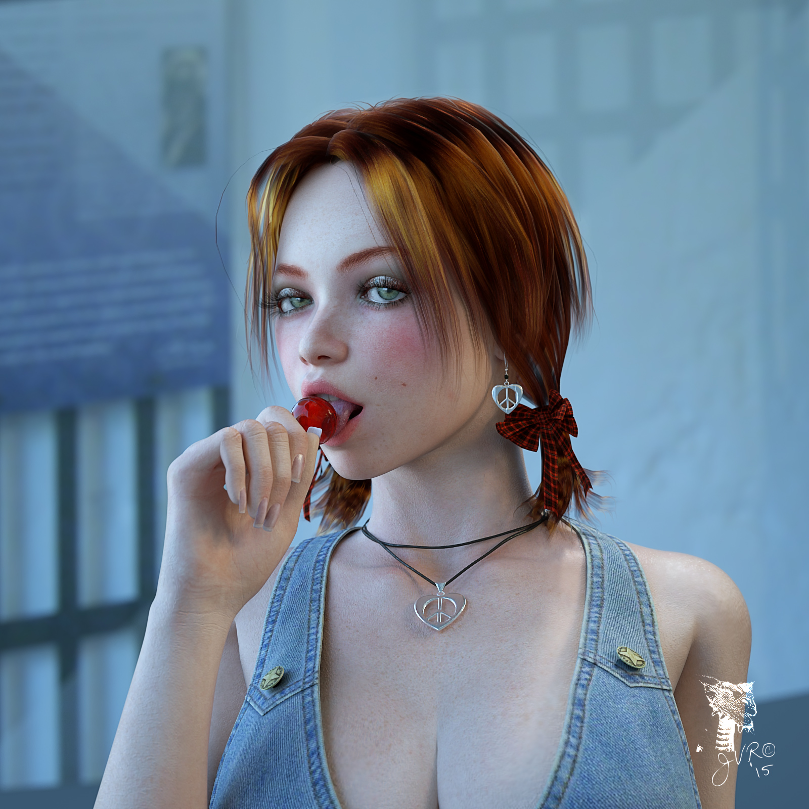 Cherry Lollipop by JVRenderer