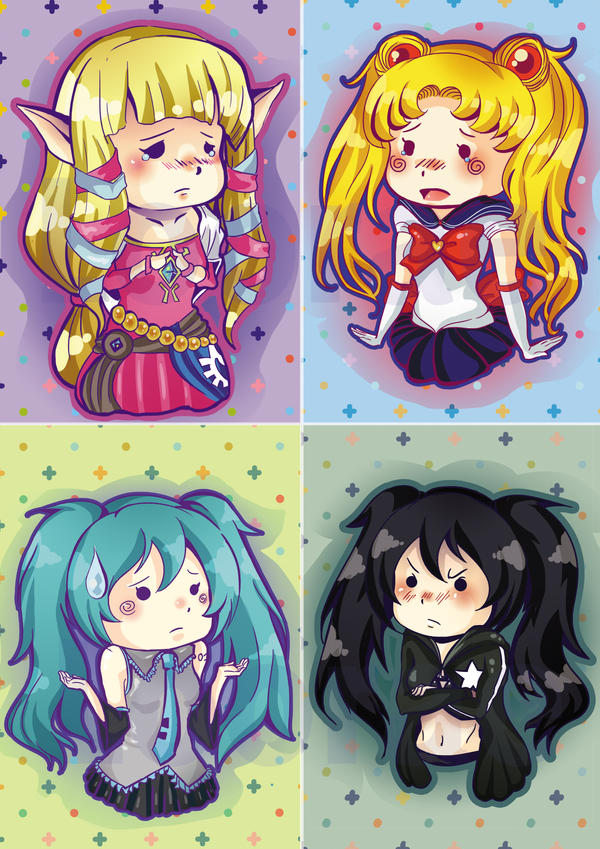 Chibi Card Set by Folkloor