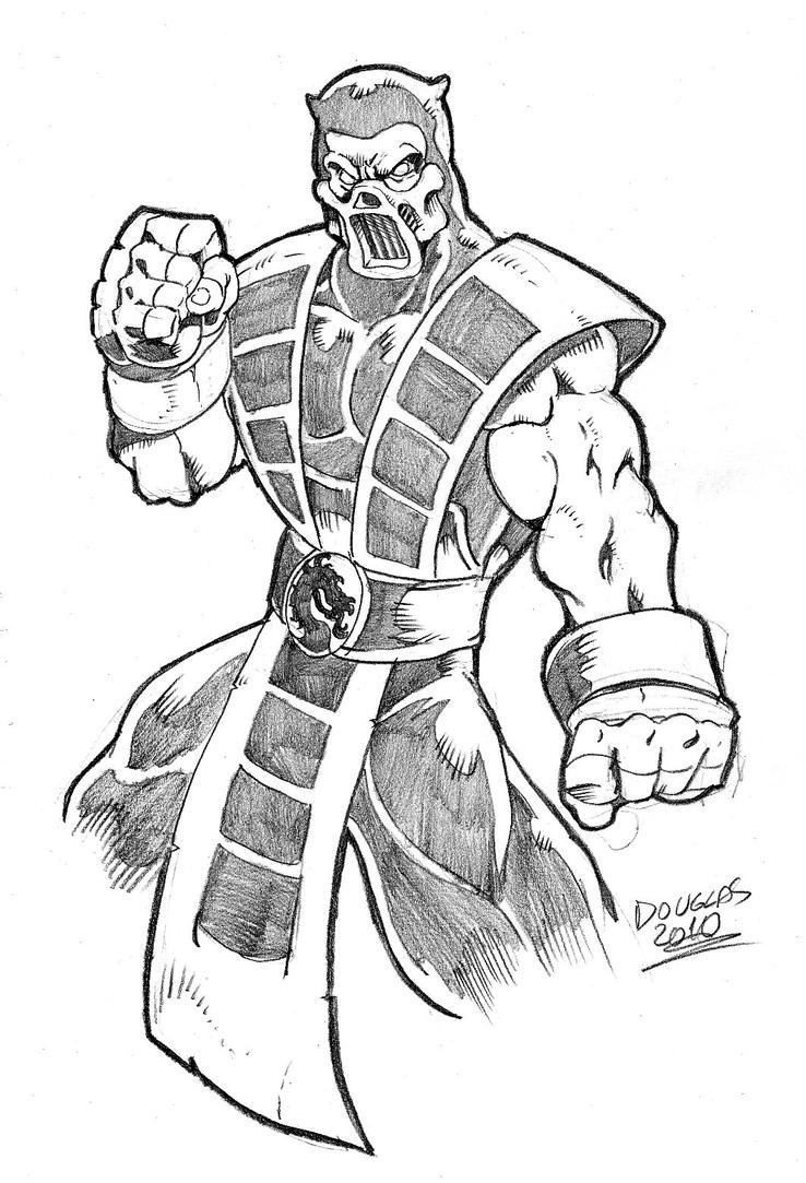 Scorpion mortal kombat face drawing