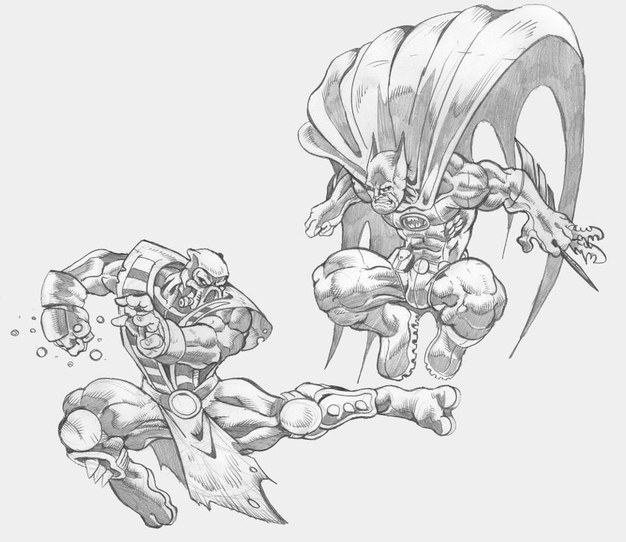 Mortal Kombat Sub Zero Vs Scorpion Drawing, Scorpion VS Sub-Zero ...