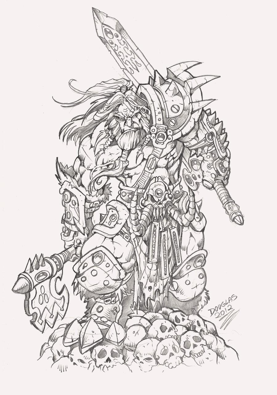 Diablo III_Barbarian by DOUGLASDRACO
