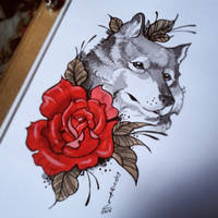 Wolf_Tattoo Design by DOUGLASDRACO
