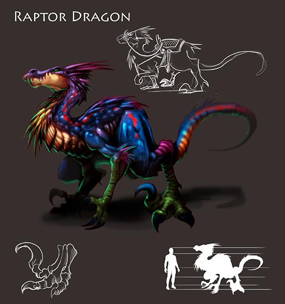 Raptor Dragon by DOUGLASDRACO