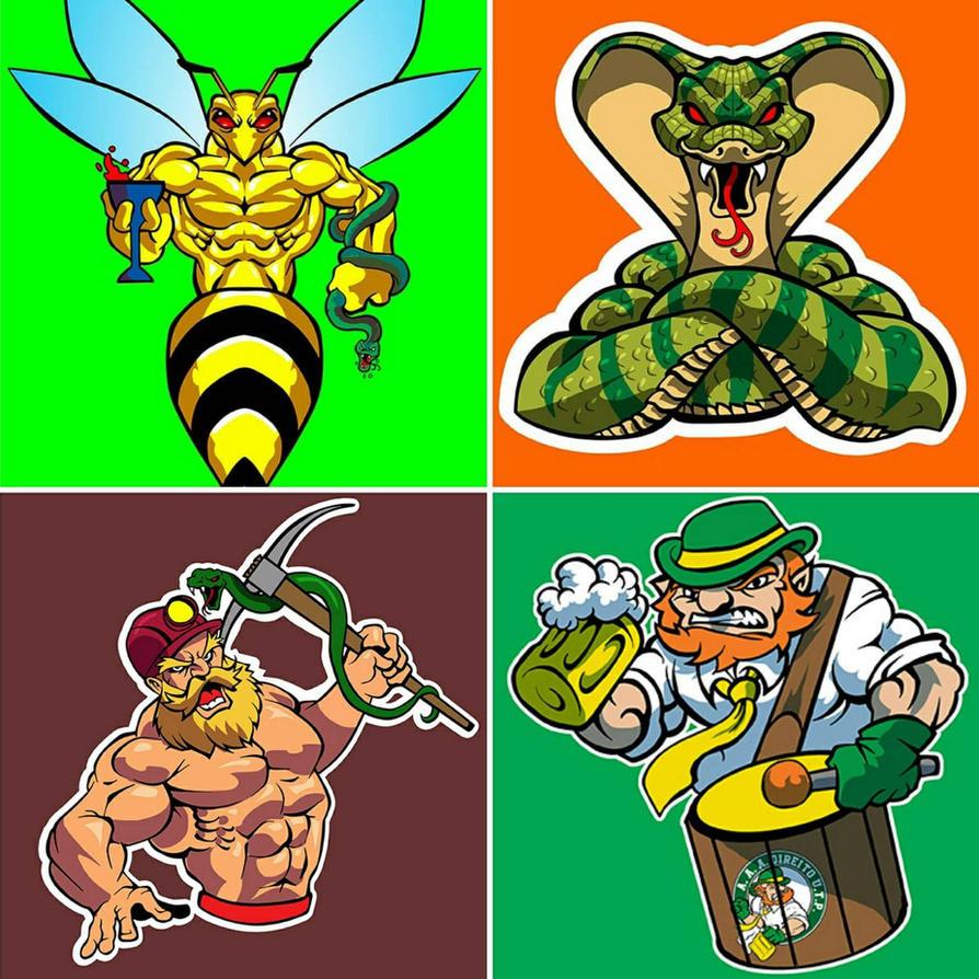 Mascots comission by DOUGLASDRACO