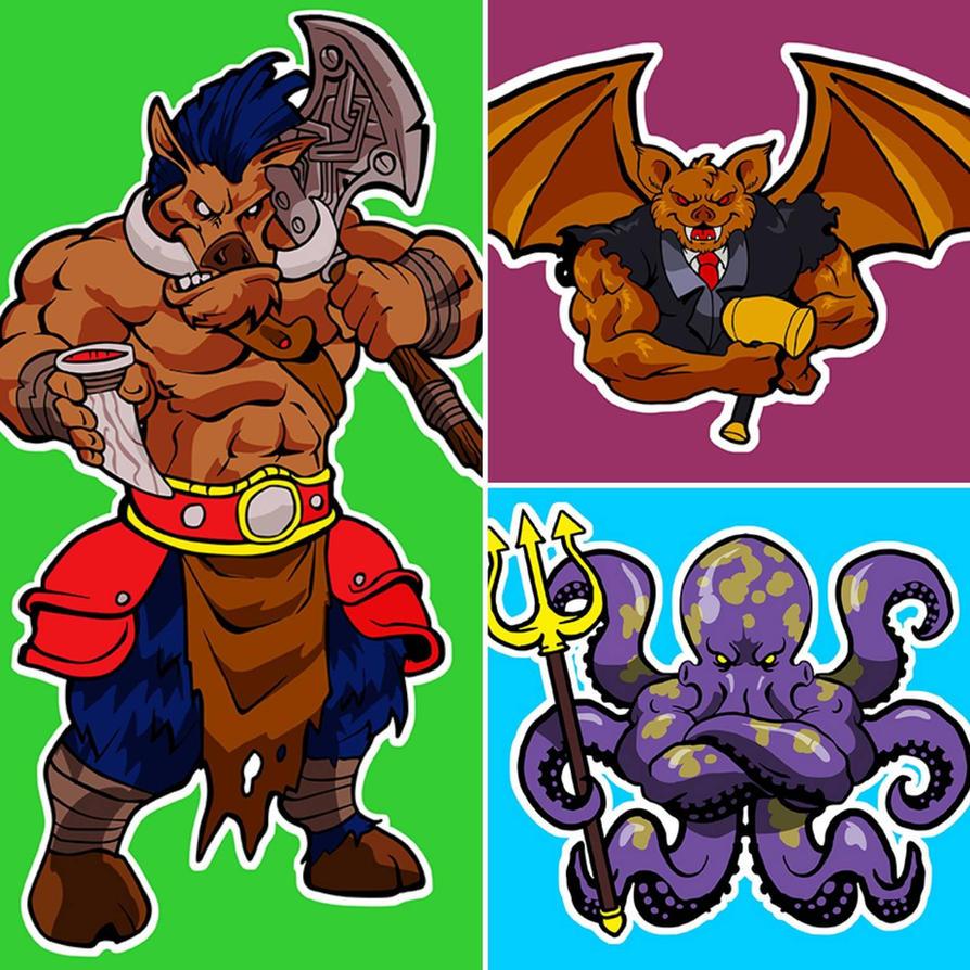 Mascots Comission #2 by DOUGLASDRACO