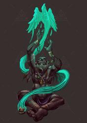 Dreamt up games half orc shaman