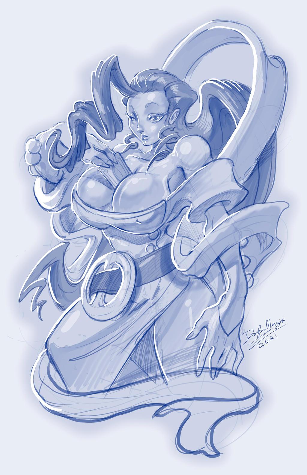 Rose_ Street Fighter_sketch