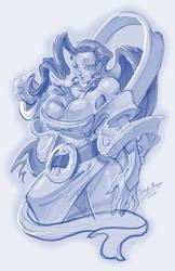 Rose_ Street Fighter_sketch by DOUGLASDRACO